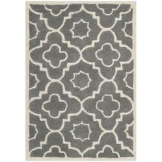 Shop for Safavieh Handmade Moroccan Chatham Dark Grey/ Ivory Wool Rug (2' x 3'). Free Shipping on orders over $45 at Overstock.com - Your Online Home Decor Outlet Store! Get 5% in rewards with Club O!