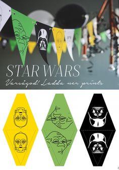Varsågod, här får du ett gratis print. En Star wars download. Printar till flaggspel att ladda ner och skriva ut. May the force be with you!