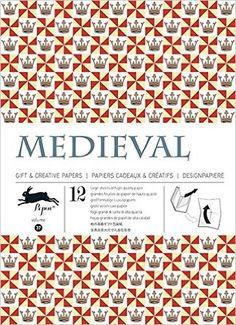 Amazon.fr - Medieval - Volumen 37. 12 grandes feuilles de papiers cadeaux & créatifs de haute qualité. - Pepin Van Roojen - Livres