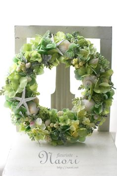 Shell lease of Clear Green - Amazingly DIY Diy Spring Wreath, Fall Wreaths, Real Christmas Tree, Beautiful Christmas, Wreaths For Front Door, Door Wreaths, Snow White Coloring Pages, Coastal Wreath, Corona Floral