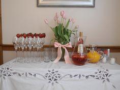 champagne & make your own mimosa bar - bridal shower brunch