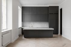Perfectly Minimal Kitchen Design - Page 2 of 31 - KitchenRemodel. Interior Design Studio, Interior Design Inspiration, Interior Design Living Room, Minimal Kitchen Design, Minimalist Kitchen, Concrete Kitchen, Kitchen Countertops, Kitchen Dinning, Dining