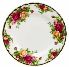 "Royal Albert Set/4 Old Country Roses Bread & Butter Plates MADE IN UK Bone China by Royal Albert. $59.99. Royal Albert Old Country Roses. Made in the UK, New with Tags!  (Most new Old Country Roses pieces, including Amazon's,  are now made in Indonesia, our Made in UK items are a very rare find now!). Pristine white bone china with vivid glazes and 22-carat gold trim, Washing by hand recommended.. Set/4 Bread & Butter Plates, 6.25"". Please see the salad plate listings, ..."