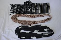 Womens Scarf Lot of 3 Infinity Winter Skull Polka Dot Animal Print Cowl #JoeBoxer #CowlInfinity