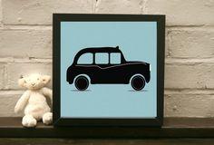 Items similar to Black Cab Print - Kid's room - Children's Room - Nursery art - London print on Etsy Black Cab, Handmade Items, Handmade Gifts, Room Themes, Taxi, Nursery Art, Little Boys, Kids Toys, London