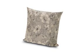 The softer side of floral. Cream and tan flowers mix sweetly on this pillow from Missoni Home's 2015 Lilium Collection.