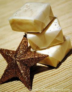 White Chocolate Eggnog Fudge - would have never thought to individually wrap fudge like this.