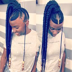 Client brought a pic of a hairstyle and I was sooo hype to execute it🤗 Inspir… - Cheveux 2019 Ghana Braids Hairstyles, Braided Hairstyles For Black Women Cornrows, Black Ponytail Hairstyles, African Hairstyles, Girl Hairstyles, Cornrows Hair, Ghana Cornrows, Afro Braids, Princess Hairstyles