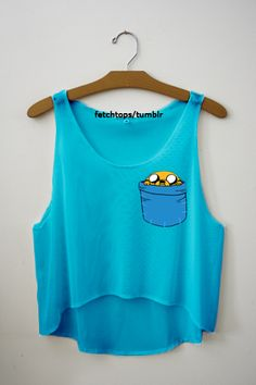 Adventure Time Jake tank top - so cute! Look Fashion, Teen Fashion, Adventure Time Clothes, Adventure Time Shirt, Adveture Time, Fresh Tops, Visual Kei, Crop Tops, Tank Tops