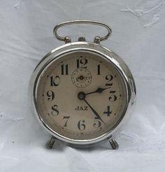 vintage jaz clock art deco 1930s clock by VintageFrenchAttic