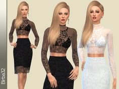 The Sims Resource: Modern lace dress by Birba32 • Sims 4 Downloads