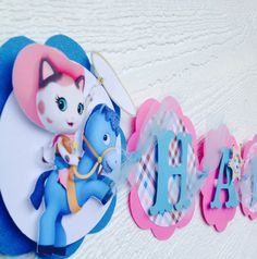 Decorations and personalized items for a one of a kind birthday party!