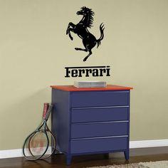 Vinyl Wall Decal Art Sticker - Ferrari emblem - Medium size. $26.00, via Etsy.