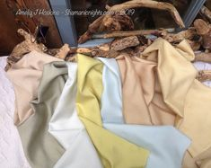 Variety of naturally dyed silks. Lime yellow from tansy flowers. #naturaldyes #plantdye #tansy Stainless Steel Pans, Dyes, Lime, Plant, Earth, Yellow, Natural, Flowers, Limes