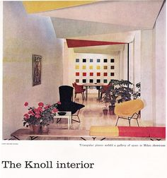 A great Knoll furnished interior advertisement shot.