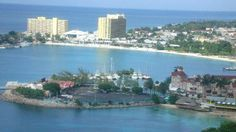 "Ocho Rios (Spanish for ""Eight Rivers"") is a town in the parish of Saint Ann on the north coast of Jamaica. Although he landed in many spots along the Jamaican coast, many believe that Christopher Columbus first set foot on land in Ocho Rios. Just outside the city, travelers and residents can visit Columbus Park, where Columbus supposedly first came on land, and see maritime artifacts and Spanish colonial buildings."