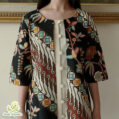 Batik dress modern , batik republic , Order by WA : or Line : batikrepublic Blouse Batik, Batik Dress, Kimono, Mode Batik, Big Size Fashion, Batik Kebaya, Batik Fashion, Refashion, Blouse Designs