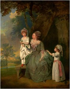 Barclay and Her Children, between 1776 and Oil on canvas, Yale Center for British Art Creepy Kids, Creepy Children, Tableaux Vivants, Painted Cottage, 18th Century Fashion, Antique Paint, Mother And Child, Portrait Art, Figure Painting
