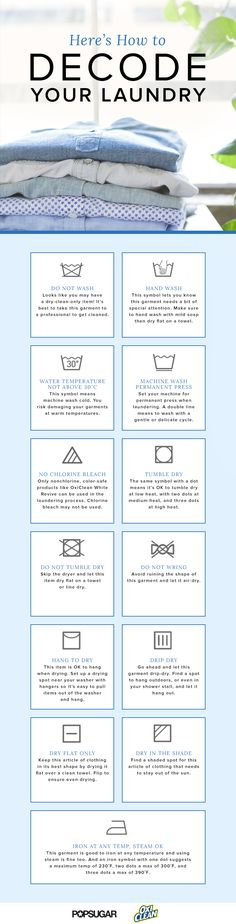 Here's How to Decode Your Laundry Labels
