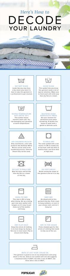 How to Decode Laundry Labels | POPSUGAR Smart Living