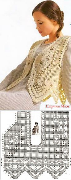 Zhiletochka fleică - de tricotat - Țara Mamă