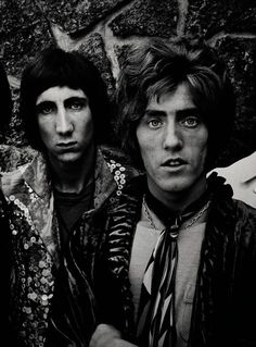 "pinkfled:  ""Pete Townshend and Roger Daltrey from The Who. Photo by Jim Marshall  """