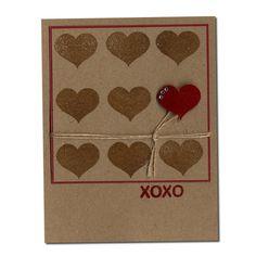 Heart background stamp Northwood