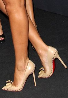 64933800312 Christian Louboutin Lucifer Bow Trust - no other shoe can make your legs  look this good. The fat platform is just not flattery These are a knockout!