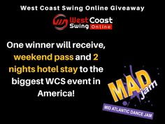 Win a FREE Weekend to MAD Jam (weekend pass & 2 nights hotel)