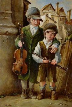"""""""Klezmers"""" -- by H. Weiss (Polish-American); a klezmer is person who plays East European, Jewish, folk music."""