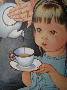 Eloise Wilkin - Pouring tea....her art is amazing...so many of my favorite childhood books used her illustrations!