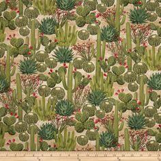 Timeless Treasures Southwest Cactus Garden Cactus Fabric