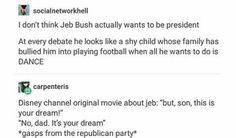Disney version of Jeb's campaign