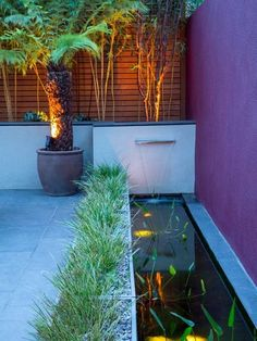 Contemporary Garden Water Feature Design A Look at Contemporary Water Features Contemporary Garden Water Feature Design. Contemporary water features can add character and style to any living space. Back Garden Design, Pond Design, Backyard Garden Design, Ponds Backyard, Landscape Design, Outdoor Fish Ponds, Landscape Architecture, Architecture Design, Backyard Stream