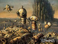 Machinearium is a great adventure game about little robot from indie developer Amanita design. Abc Poster, Norman Rockwell, Amanita Design, Chris Riddell, Best Indie Games, Arte Robot, Animation, Graphic Design Inspiration, Room Inspiration