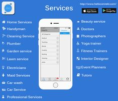 is a medium where you can get their services just in one click as well you can become a service provider. Home Doctor, Yoga Trainer, Lawn Service, Home Health Care, Cleaning Business, Day Book, Professional Services, Cleaning Service, App Design