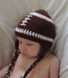 ab9e6fca5ba Crochet Hat Crochet Football Hat With Ear by PreciousLittleLamb