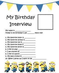 http://www.birthdaypartyideas4u.com/free-birthday-interview-printable/