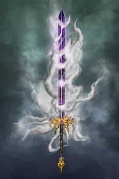 Cloud tower by wolfnoom Fantasy Blade, Arte Final Fantasy, Fantasy Sword, Fantasy Armor, Dark Fantasy Art, Sword Drawing, Sword Art, Armor Concept, Weapon Concept Art
