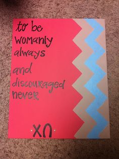 Chi Omega big little week symphony chevron canvas