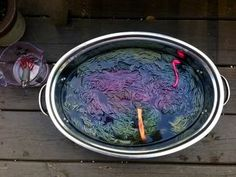 Black bean dye bath with soda ash solution