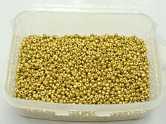 10000-Gold-Metallic-Glass-Seed-Beads-1-5mm-12-0-Storage-Box