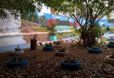 Ideias para um parquinho INCRÍVEL só com PNEUS!!! Bora fazer? - Coruja Prof Exterior, Yard, Plants, Outdoor, Toys, Tire Playground, Old Tires, Backyard Landscape Design, Owl Bird