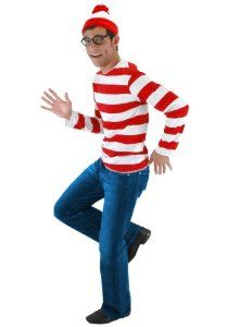 Amazon.com: Where's Waldo Costume (Medium/Large): Clothing
