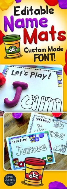 Are you ready for play with some clay?! Yes! These incredibly easy to use editable playdoh name mats utilize my custom dough font created exclusively for my products! Providing an engaging, hands-on learning opportunity, these mats are easily customized by just filling in one sheet with your class names and the other 120 are automatically populated! Decorated with original clip art to ensure they are inviting and visually engaging!