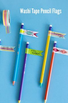 We're gifting our teachers with a few fun diy pencils for the first day of school! It was fun to come up with silly things to say on our pencils, something to motivate both teachers and kids for back to school....