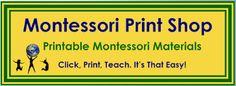 Free Montessori Printable Downloads at the Montessori Print Shop