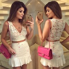 Looks | Trend Alert! Girly Girl Outfits, Cute Outfits, Fashion Wear, Girl Fashion, Casual Chique, Glamour, Classy And Fabulous, Night Out, Ideias Fashion