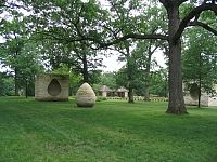 Three Cairns - Andy Goldsworthy: This sculpture, made Iowa limestone lives at the Des Moines Art Center.