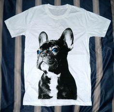 French Bulldog TShirt Blue Eyes Dog TShirt  French by panoTshirt, $17.00